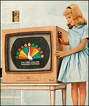 Image result for 1960s color tv