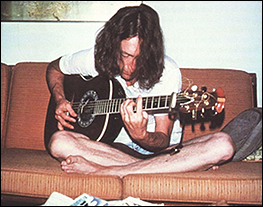 John Lennon Plays His Guitar While On Visit To Bermuda In June 1980