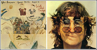 Front and back covers of John Lennon's Walls and Bridges album.